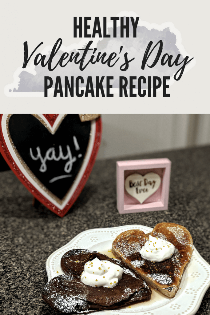 Pictures contains all of the ingredients to make a fun, Valentine's Day recipe: healthy, chocolate cherry pancakes
